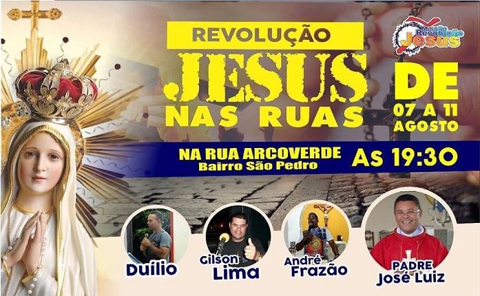 Revolução Jesus acontece em nossa Paróquia